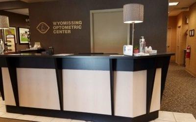 Eye Designs Optical Displays, Reception Desk & Reception Chairs